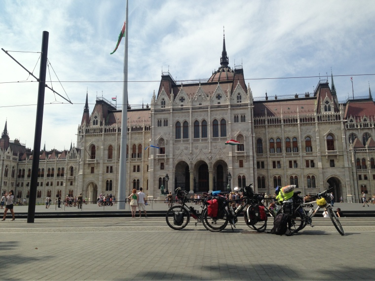 the bikes in Budapest
