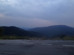 View of the road between Blagoevgrad and Delcevo